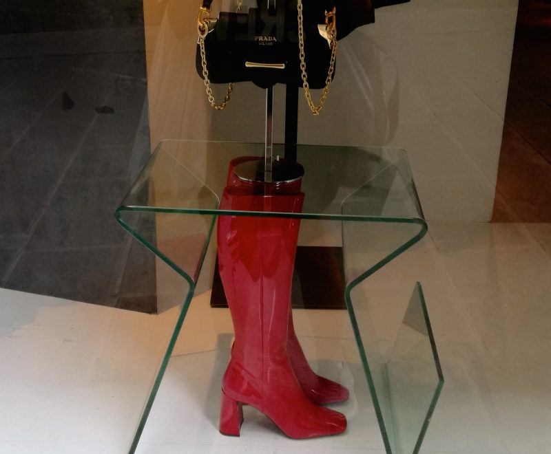 fall winter fashion red boots